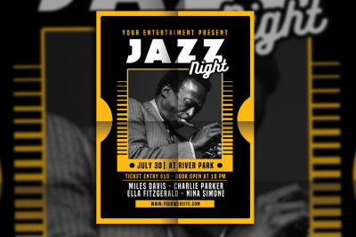 Jazz Night Flyer Poster