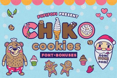 Chiko Cookies Font + Bonus