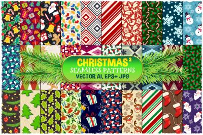 Christmas Seamless Pattern Set 2