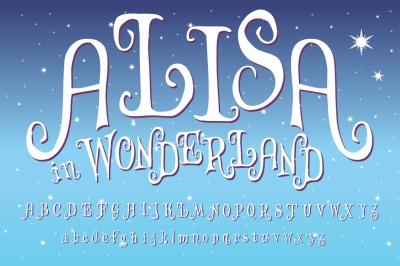 Alisa in Wonderland - Vector Letters