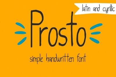 Prosto (Latin+Cyrillic)-simple font