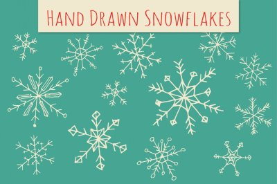 Holiday Snowflakes Clip Art