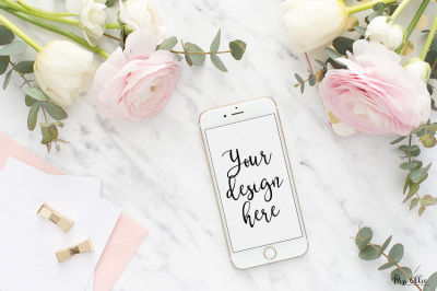 Mobile styled stock mockup