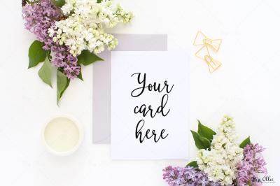 Card mockup styled stock