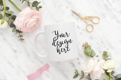 Coffee mug styled stock
