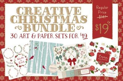 Huge Christmas Art & Paper Bundle - Save 87%
