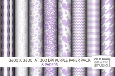 Rustic Purple Digital Papers Pack, Seamless Pattern Paper Pack, Seamless Pattern