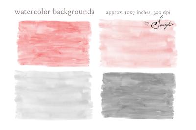 Watercolor Background, Clip Art, Splash, Brush Strokes