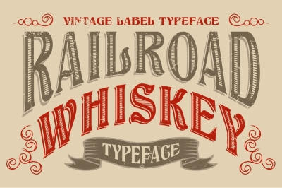 Railroad Whiskey - Vintage Label Letters