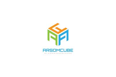 A Letter Hexagonal Logo