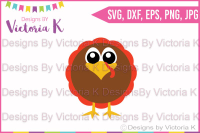 Fat Turkey, Thanksgiving, Fall, Christmas, SVG, DXF Cut Files