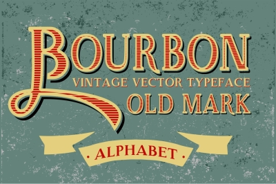 Vintage Bourbon - Handcrafted Letters