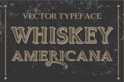 Whiskey Americana - Vector Letters