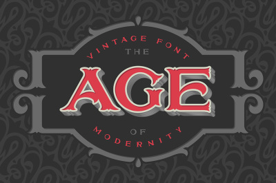 Vintage font «The age of modernity»