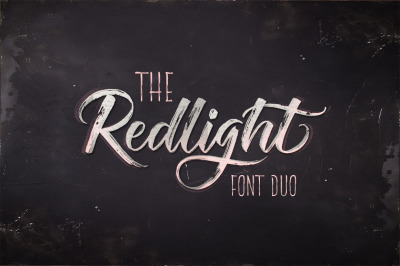 The Redlight Font Duo OFF 75%