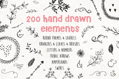 Sale! Decorate Everything! 200+ Design elements