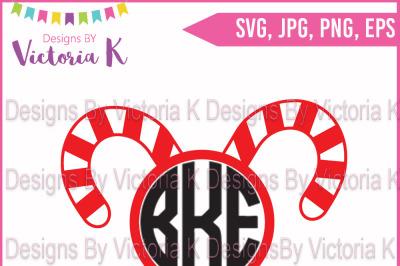 Candy Cane, Monogram, SVG Cut File