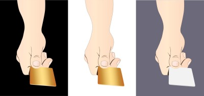 Man's hand gives the card, three file, a JPEG 300 dpi, EPS 10, can be used for print, creating illustrations