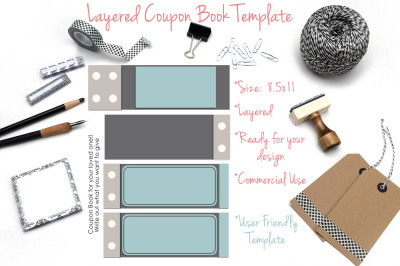 Layered Coupon Book Template