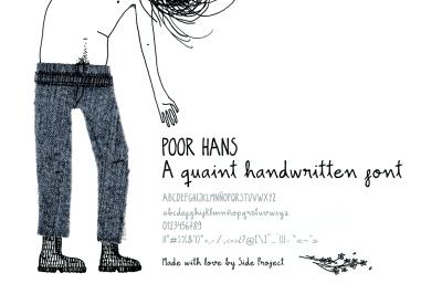 Poor Hans handwritten font