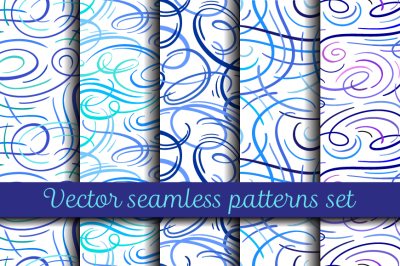 Absrtact curves patterns set
