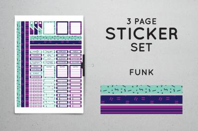 Planner Sticker Set - Funk