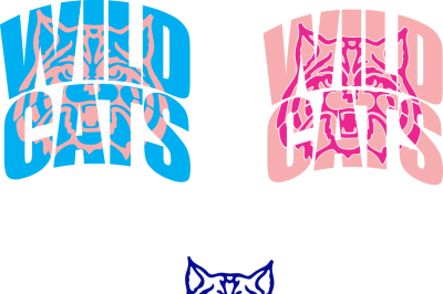 Wild Cats Knockout Font SVG DXF EPS Cutting File