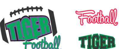 Tiger Football SVG DXF EPS PNG File
