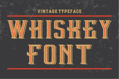 Whiskey Font - vintage vector letters