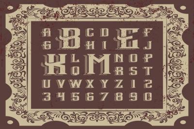 Vintage Vector Letters