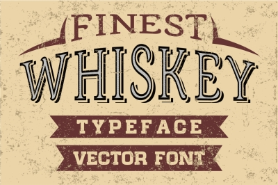 Finest Whiskey - vector vintage letters