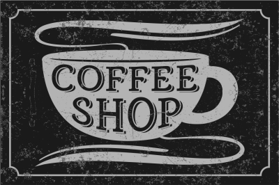 Coffee Shop - vector font