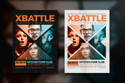 The X Battle Music Flyer