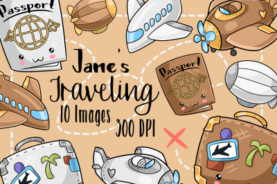 Kawaii Travel Clipart