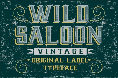 Wild Saloon - original Vintage Label