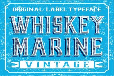 Whiskey Marine - Vintage Label