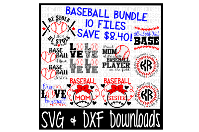 Baseball Bundle - 10 Cutting Files!