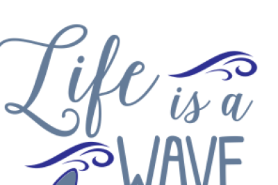 Beach Wave SVG DXF EPS PNG Cutting Files