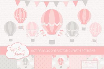 Soft Pink Hot Air Balloons & Patterns