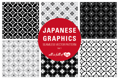 Quatrefoil seamless background patterns