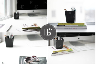 Creative Books & Desk – 5 Stock Photos Bundle