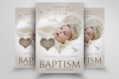 Baptism Sunday Church Psd Flyer