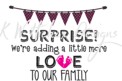 Baby Announcement SVG EPS DXF Cutting File