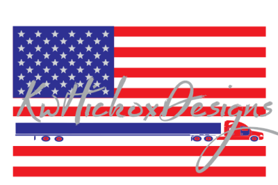 18 Wheeler Flag SVG DXF EPS PNG Cutting Files