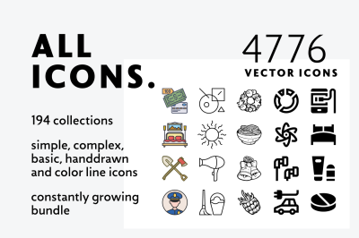 Allicons — 4776 Line Icons + FREEBIE