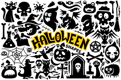 Halloween Vector Shapes Collection