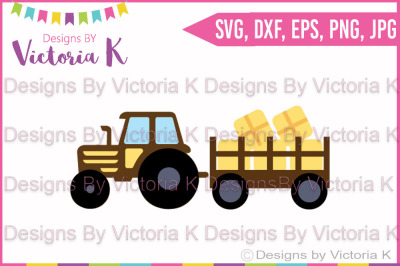 Tractor, Hayrides, SVG, DXF, Cut File