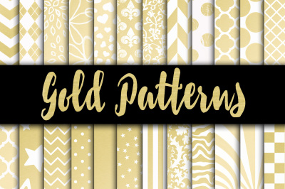 Gold Patterns Digital Paper