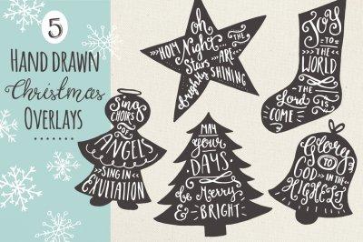 Christmas Overlays Set 7 - Vector