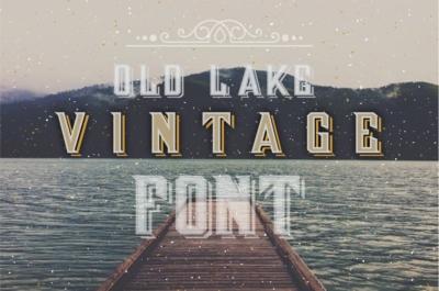Vintage Old Lake Letters